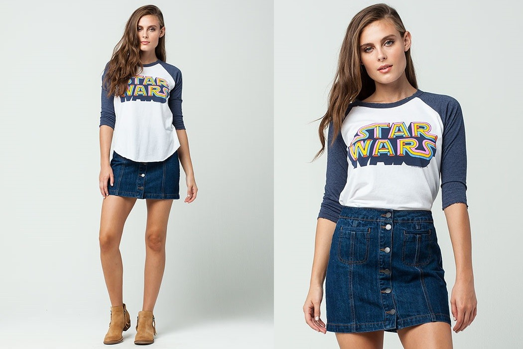 Tillys - women's Star Wars raglan tee by Junk Food Clothing