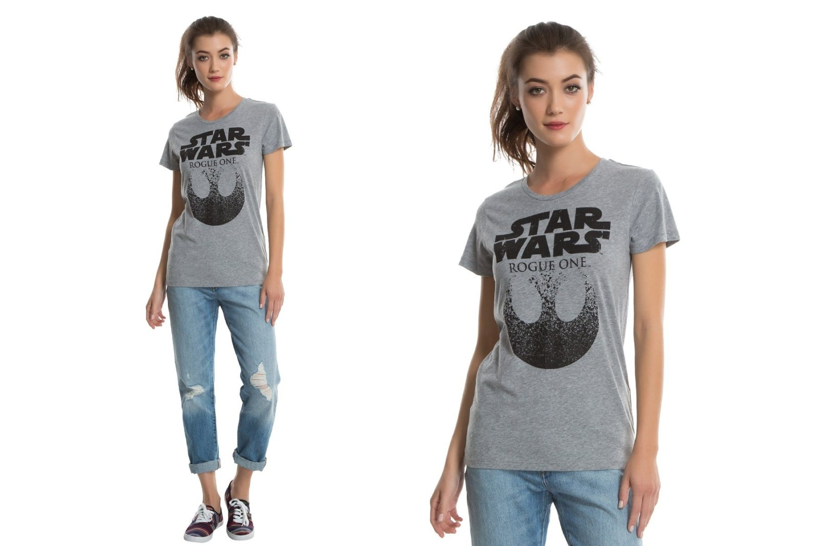 New women's Rogue One tee at Hot Topic
