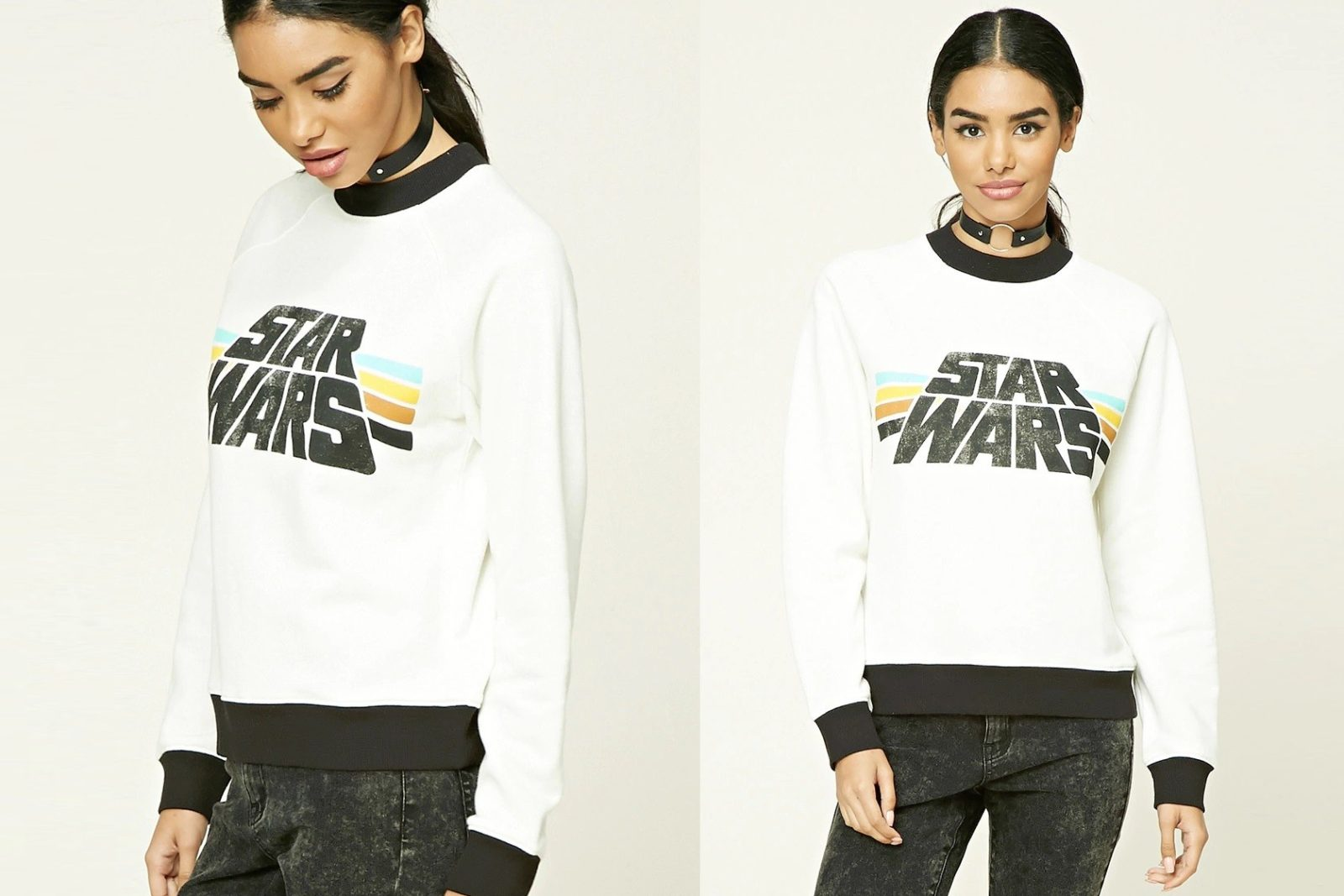 Women's Star Wars logo ringer sweatshirt