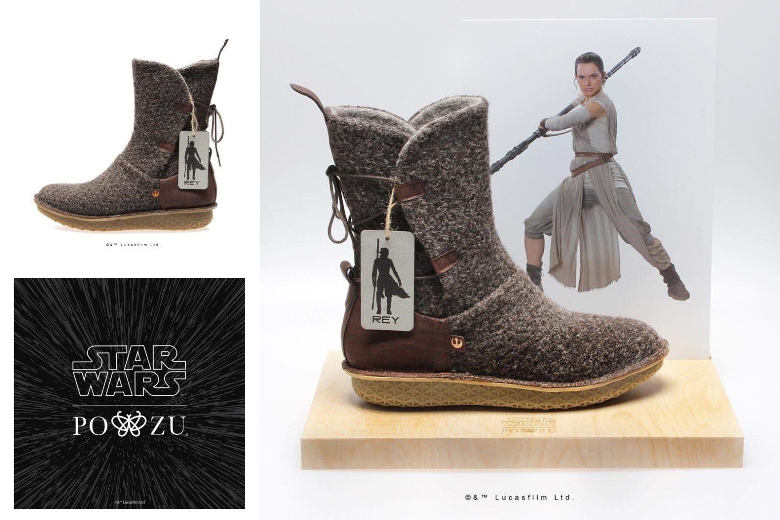PO-ZU x Star Wars Rey boot preview!