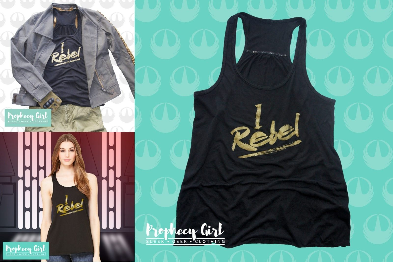 Prophecy Girl Jyn Erso 'I Rebel' Tank Top 50% off