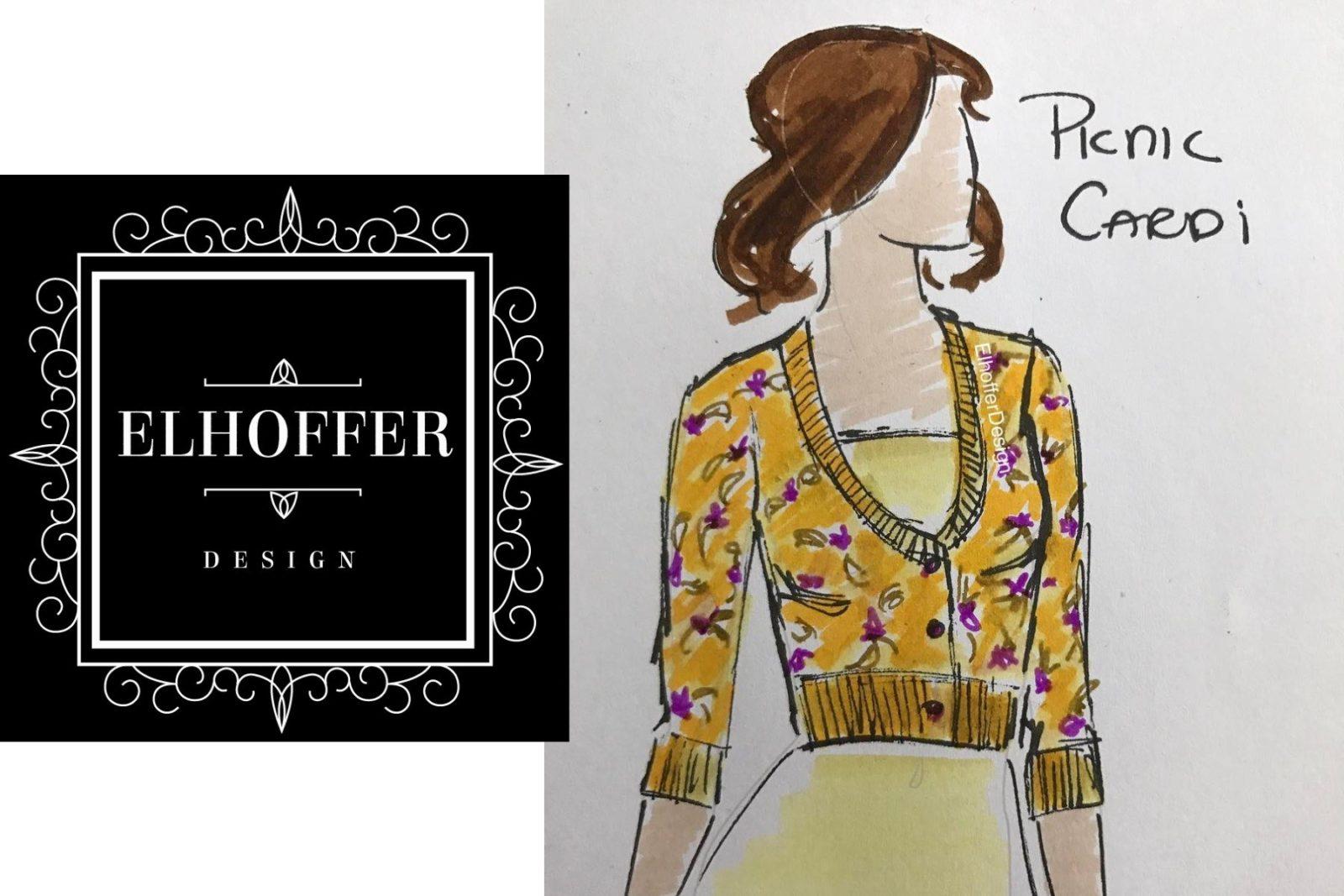 Elhoffer Design Padme' picnic cardigan!