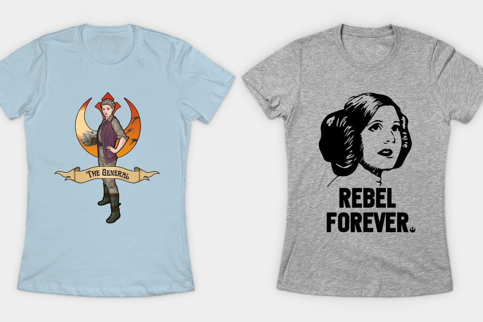 Women's Princess Leia t-shirts available at TeePublic