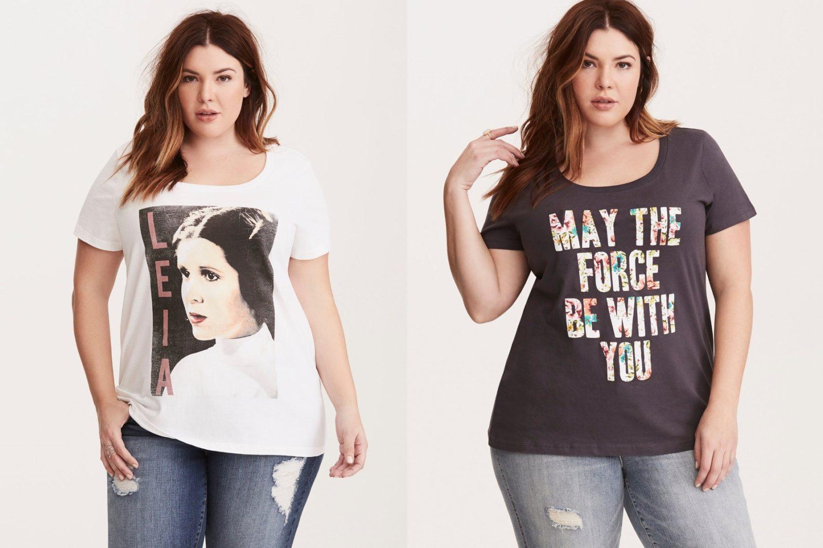 New women's Star Wars plus size tees at Torrid