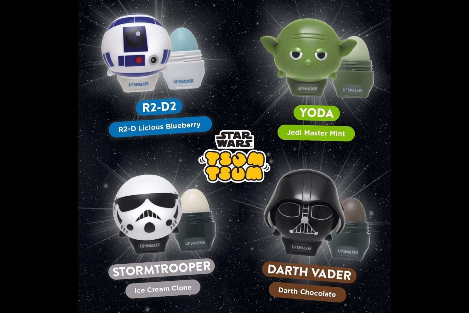 Star Wars Lipsmackers now available