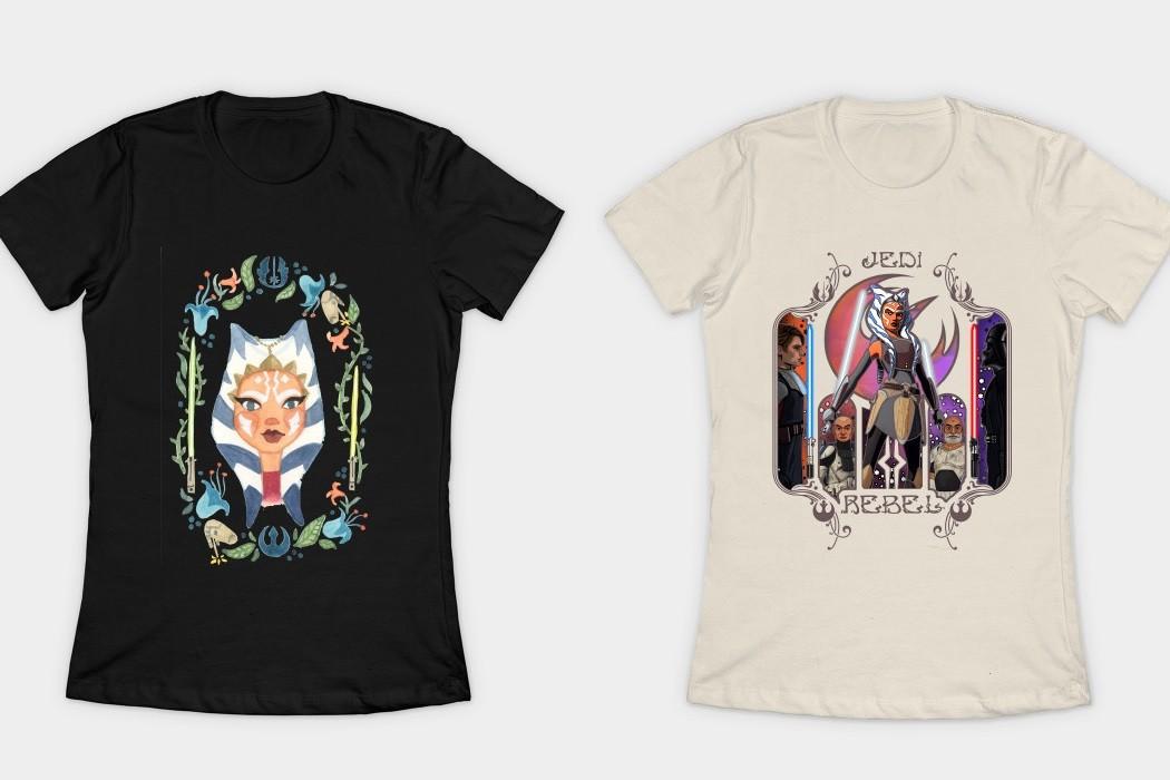 Women's Ahsoka Tano t-shirts available at TeePublic