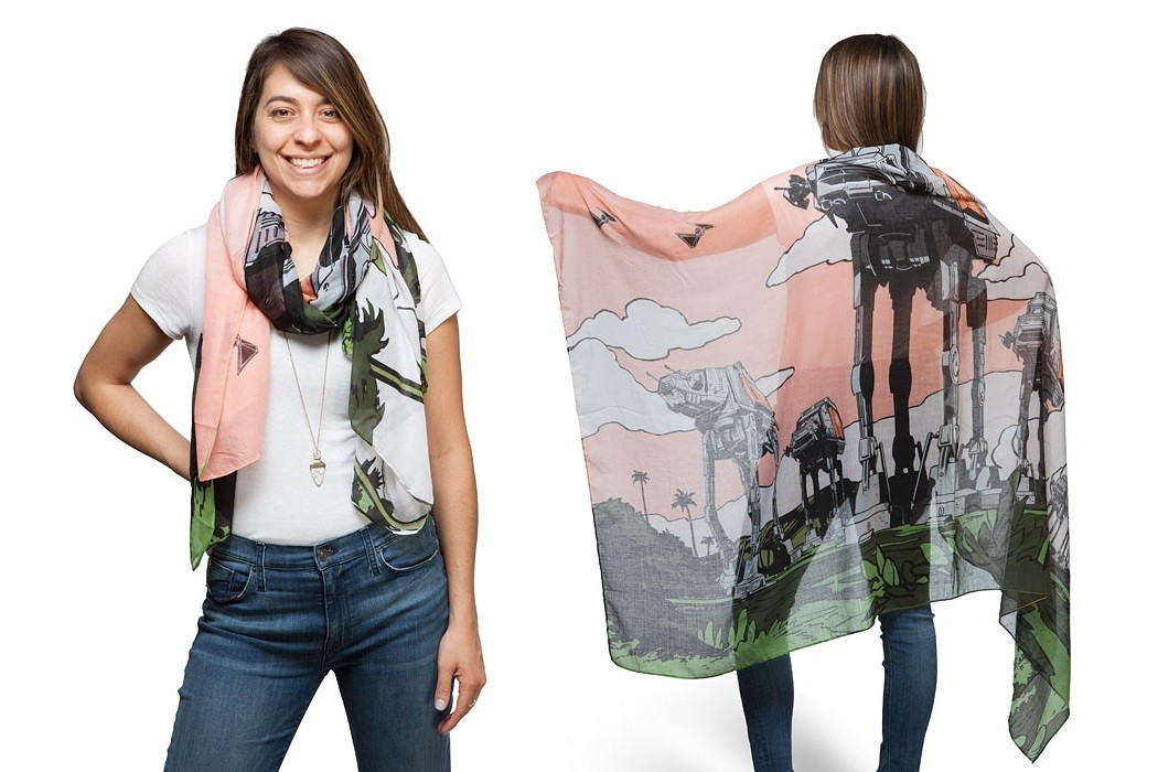 Rogue One AT-ACT Scarif scarf at ThinkGeek