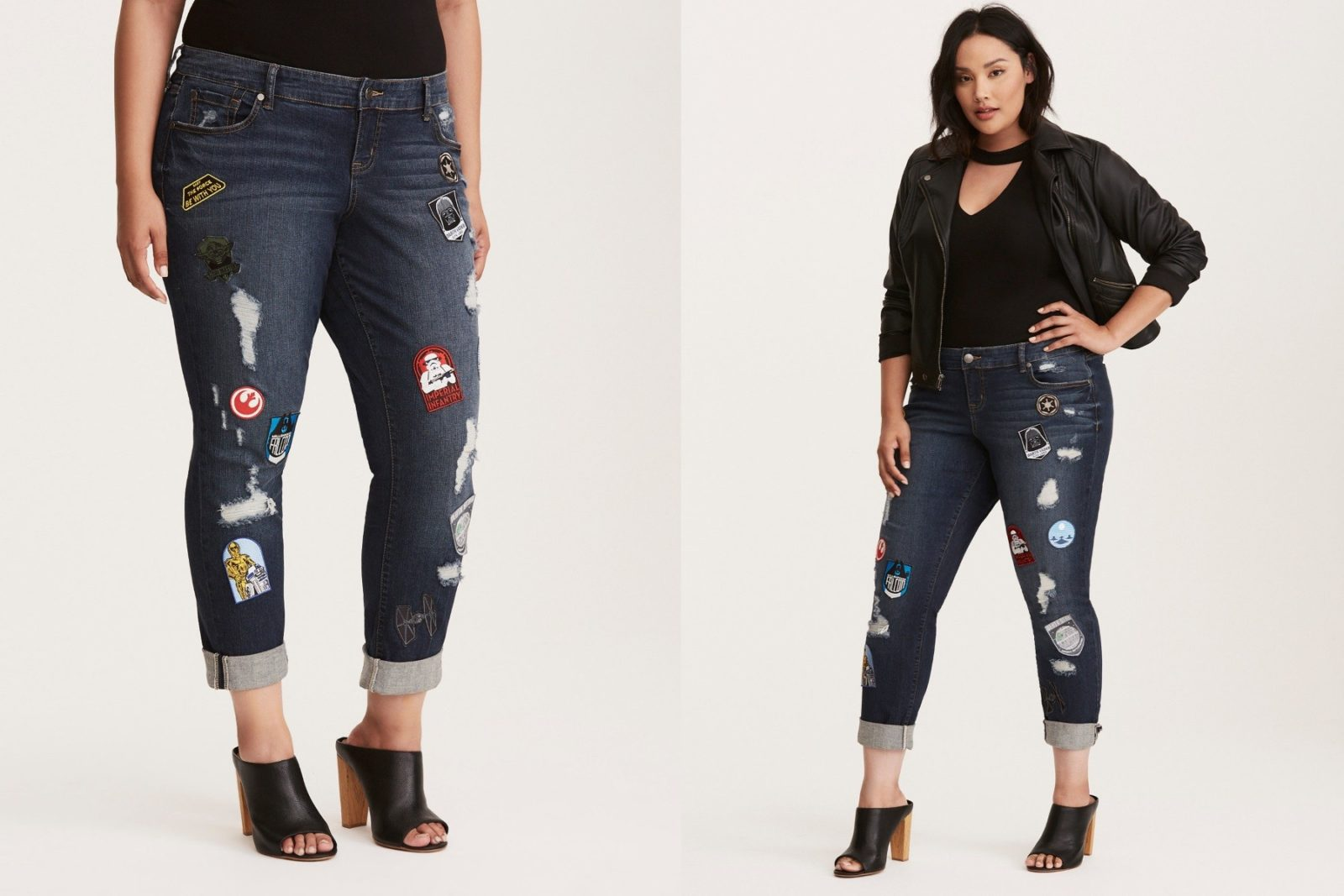 Women's Star Wars Patch Jeans at Torrid