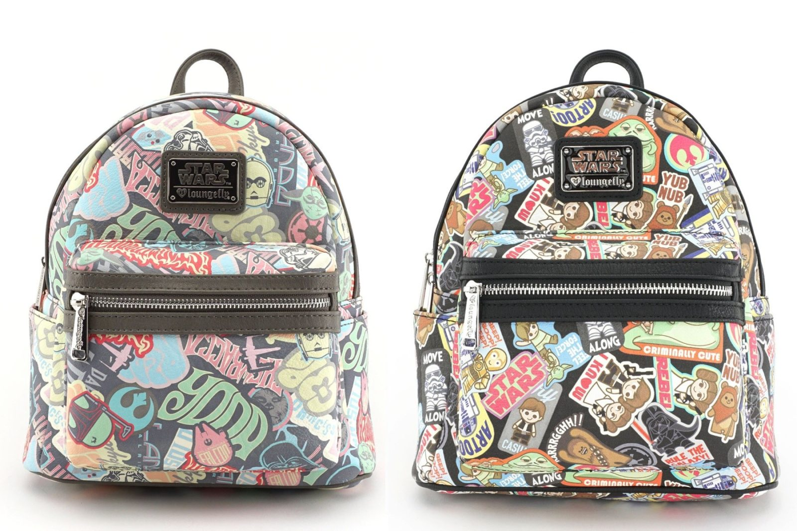 Loungefly x Star Wars Sticker Mini Faux Leather Backpacks