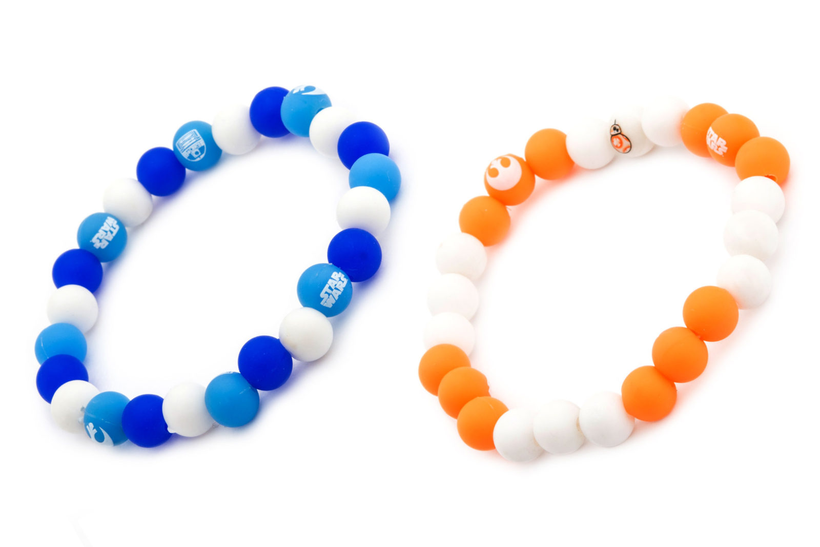 Body Vibe x Star Wars R2-D2 BB-8 droid silicone bead bracelets
