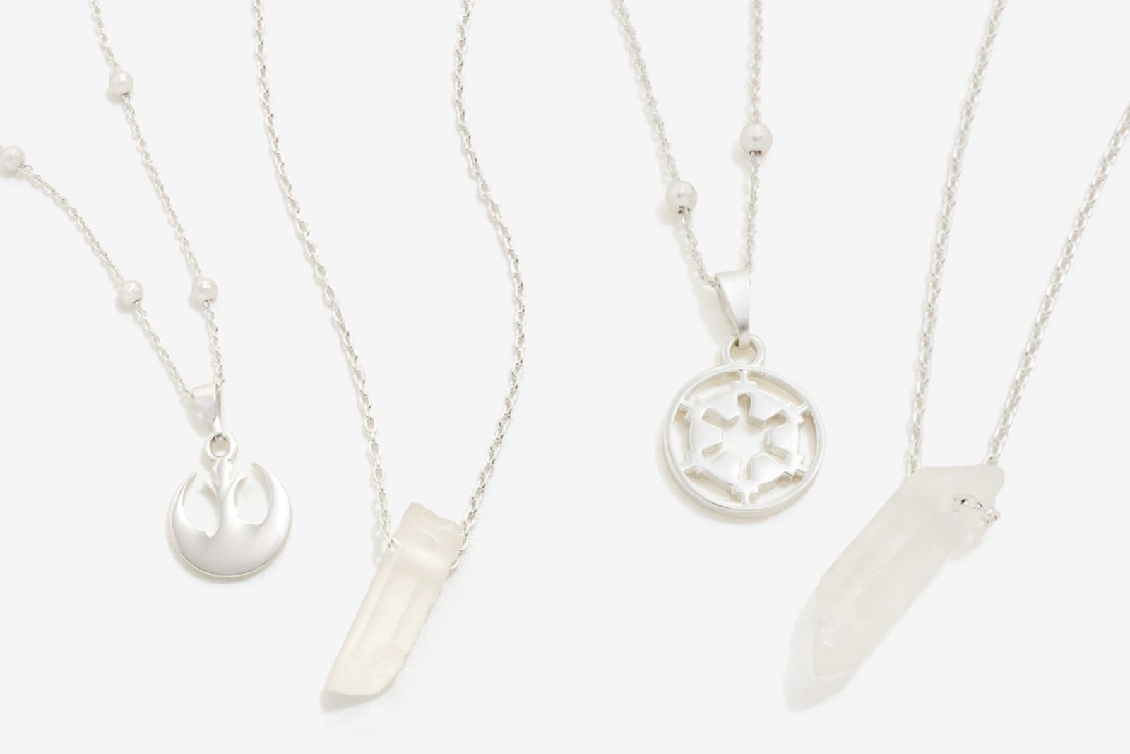 Star Wars Rebel Alliance Galactic Empire Kyber Crystal necklace jewelry sets at Box Lunch