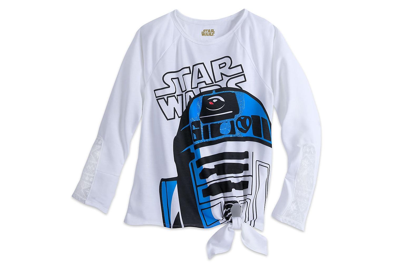 New Women's R2-D2 Long Sleeve Tee