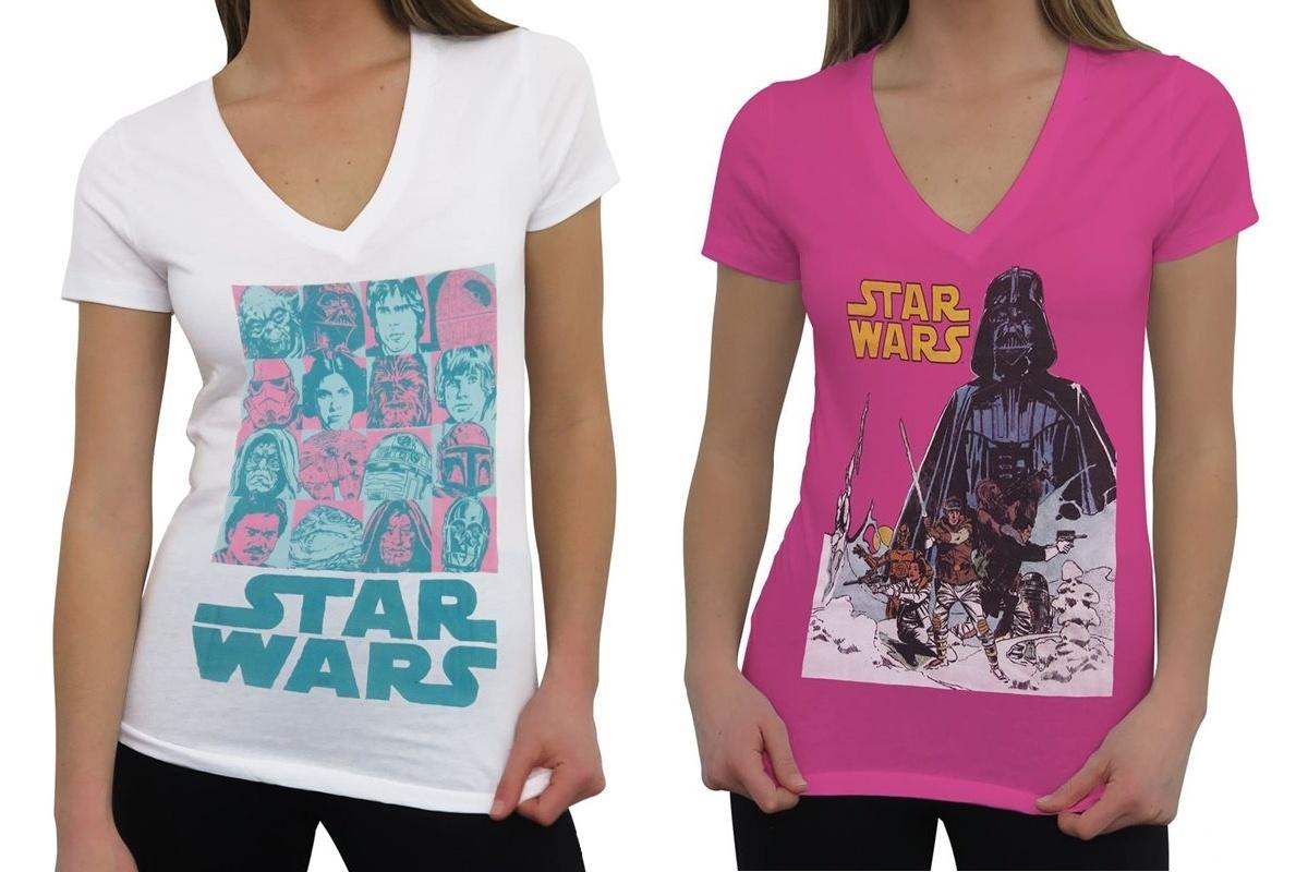 New Women's Star Wars V-Neck T-Shirts