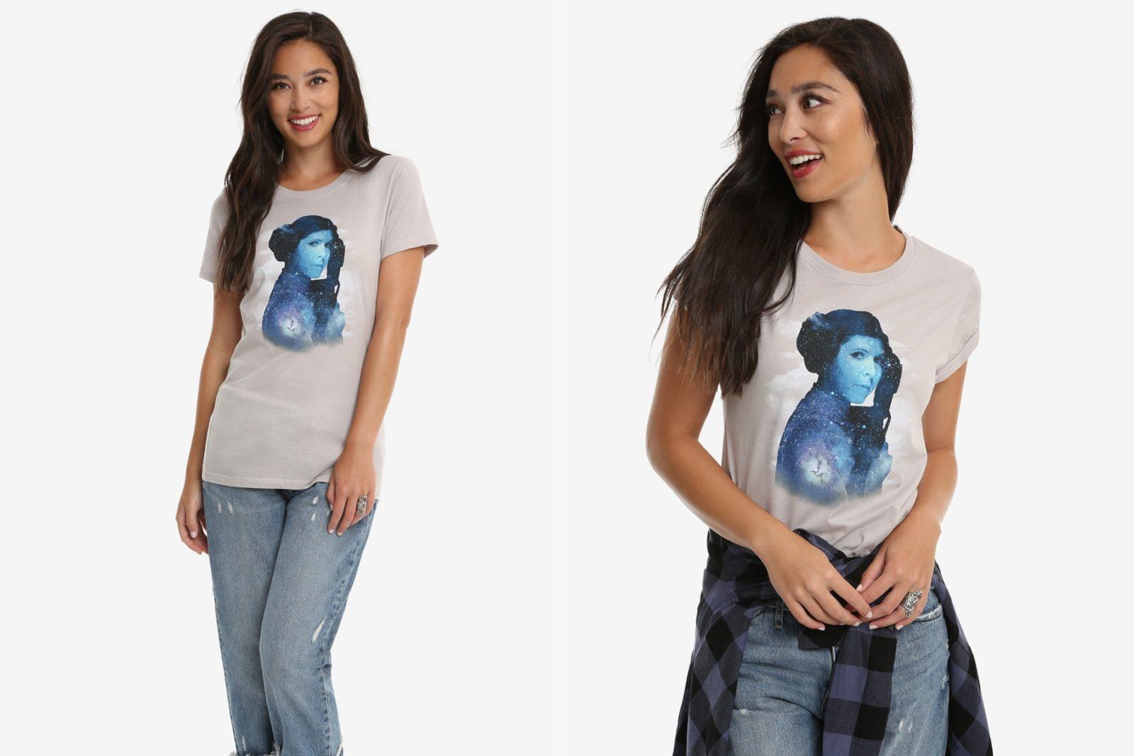 Her Universe Princess Leia Galaxy T-Shirt