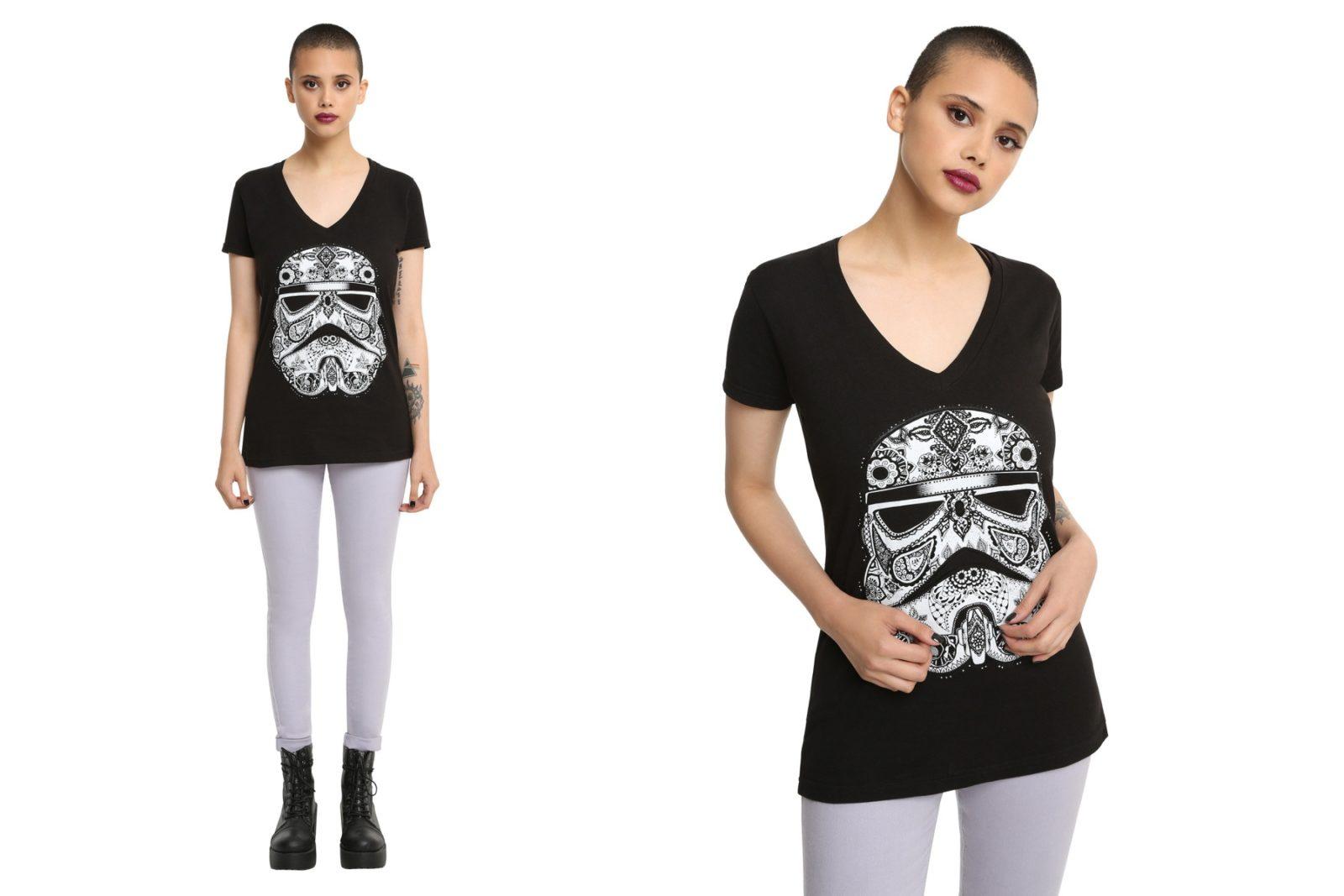 Women's Star Wars Paisley Stormtrooper t-shirt at Hot Topic