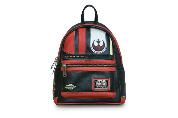 Loungefly x Star Wars The Last Jedi Poe Dameron helmet mini backpack at Entertainment Earth