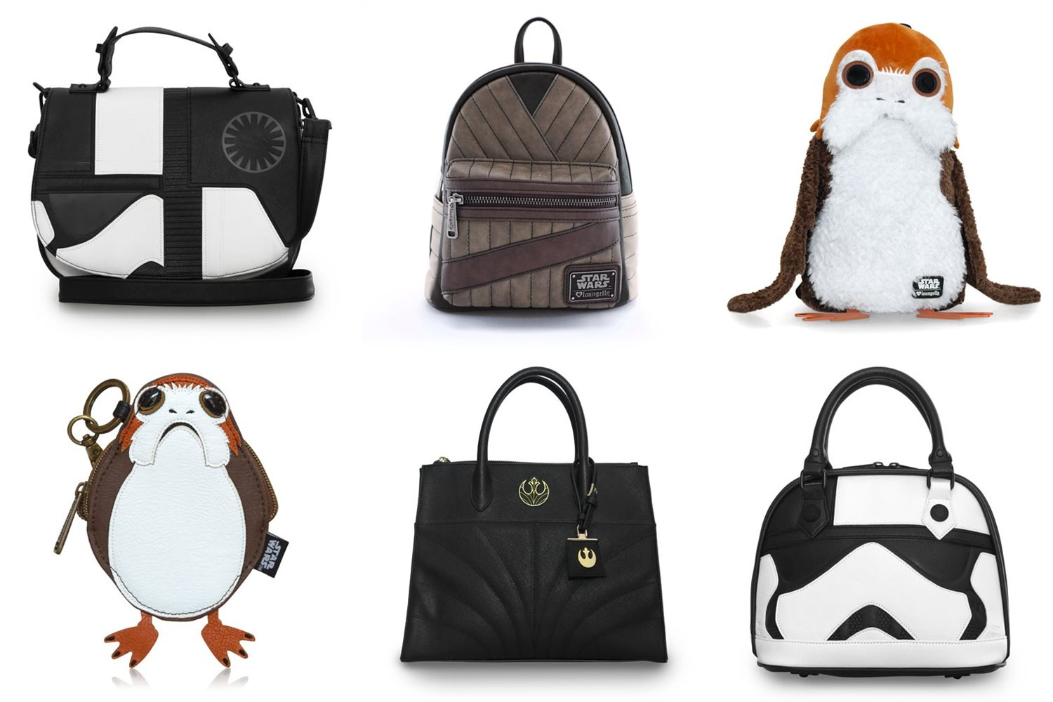 Loungefly x Star Wars The Last Jedi handbags and wallets at Entertaiment Earth