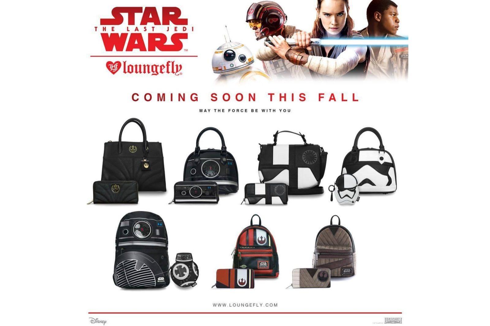 Loungefly x Star Wars The Last Jedi handbag range preview