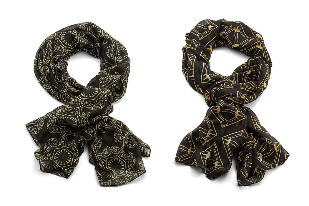 Star Wars The Last Jedi First Order and X-Wing Fighter Art Deco scarves at ThinkGeek