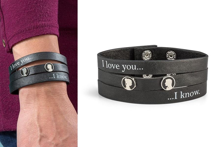 I Love You / I Know Faux Leather Bracelet