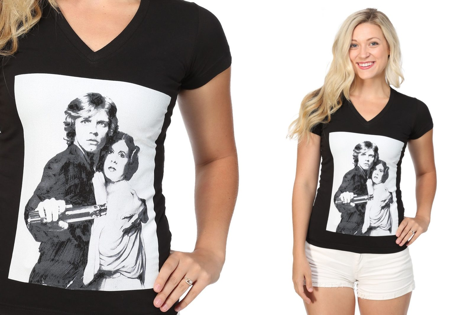 Women's Luke And Leia T-shirt at Fun