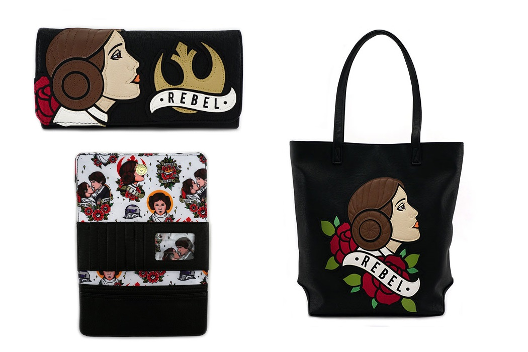 Loungefly Leia Tote and Wallet at ThinkGeek