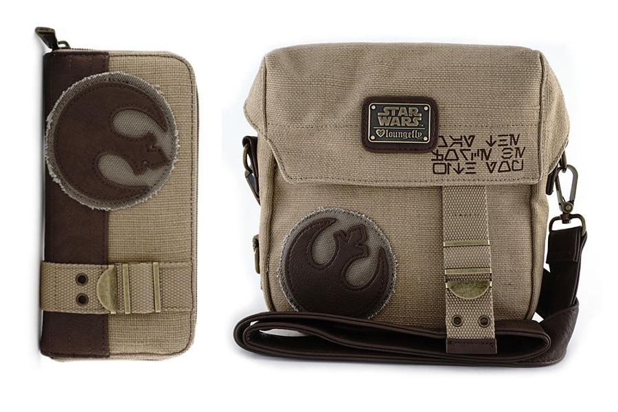Loungefly Rey Rebel Bag and Wallet at ThinkGeek