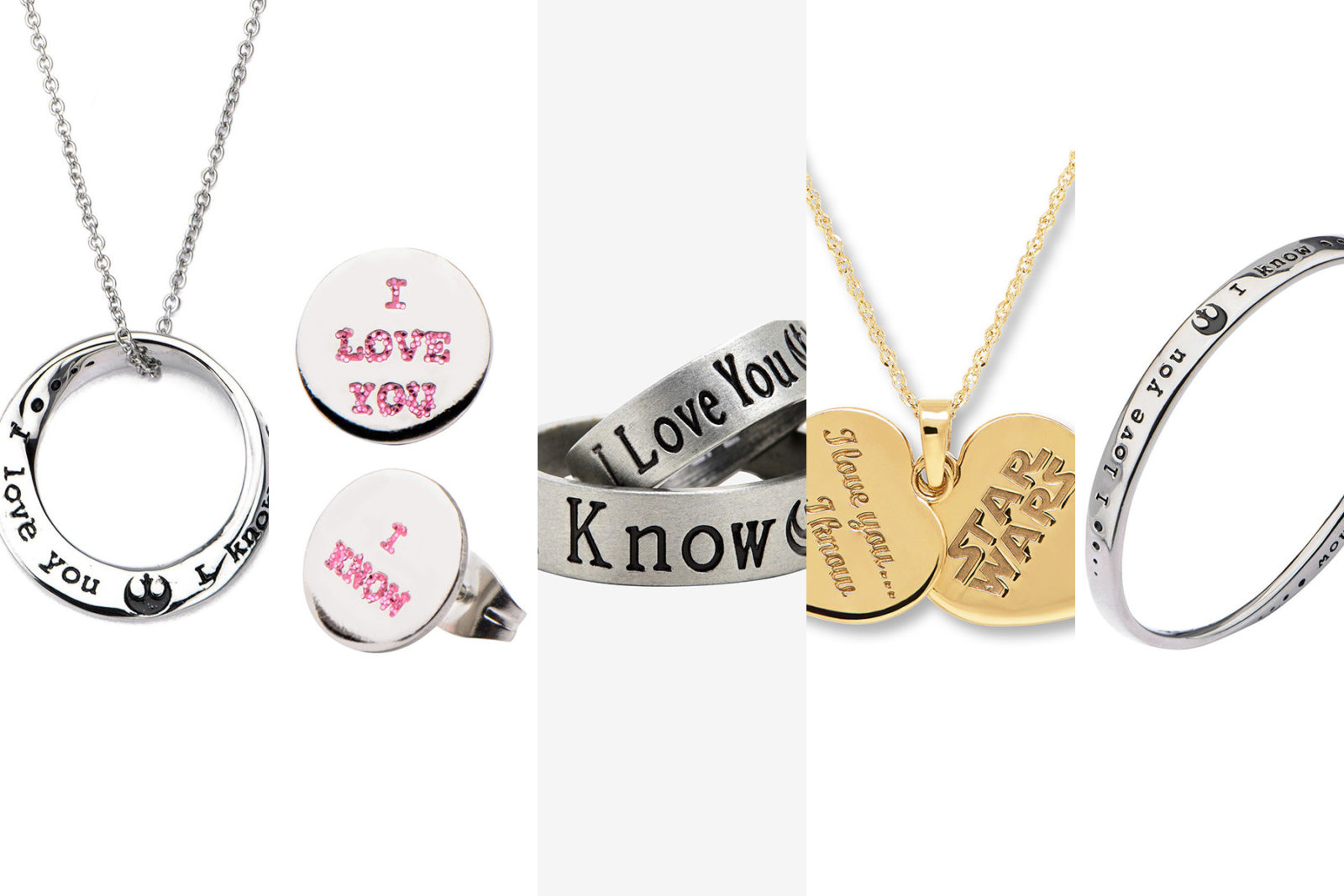 Leia's List - Star Wars Han Solo & Princess Leia I Love You I know jewelry