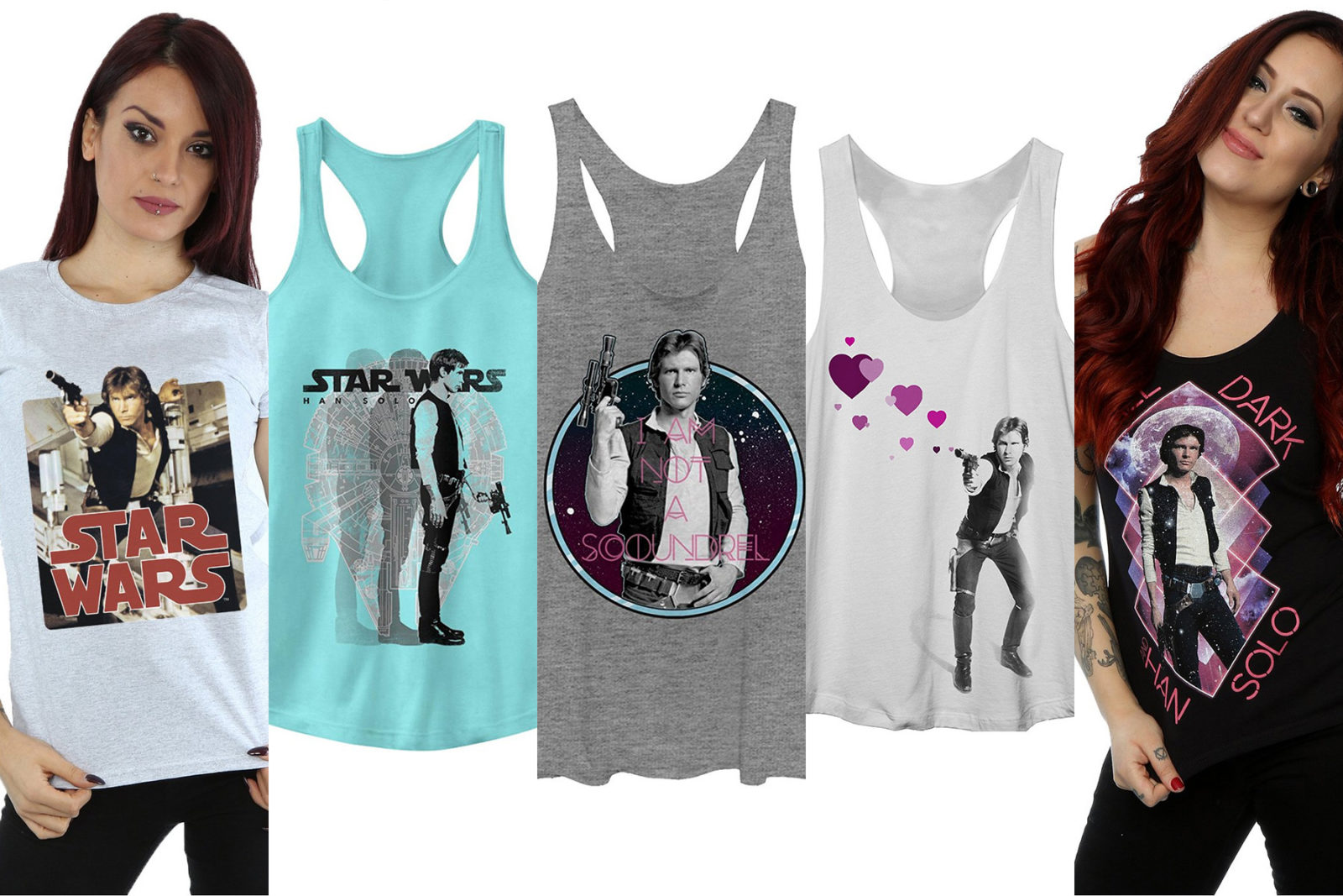 Leia's List - Women's Star Wars Han Solo printed t-shirts and tank tops