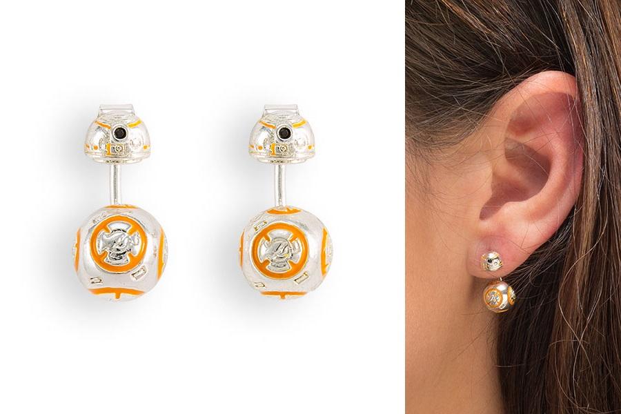 Star Wars BB-8 Ear Jacket Enamel Earrings at ThinkGeek