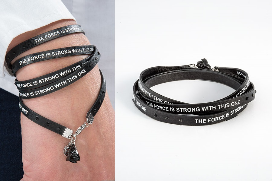 Darth Vader Faux Leather Wrap Bracelet