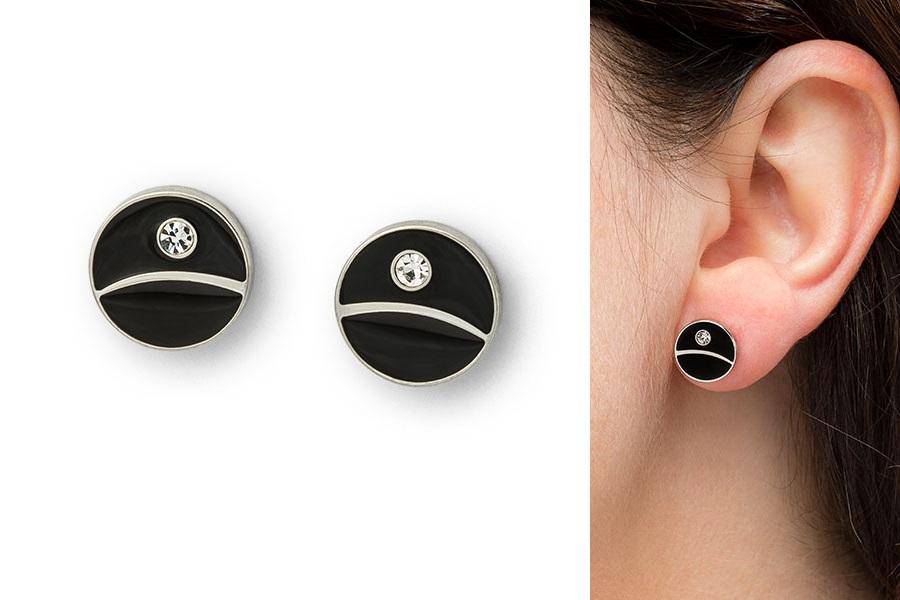 ThinkGeek Exclusive Death Star Stud Earrings