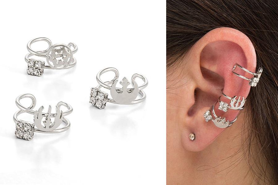 Star Wars Symbol Ear Cuff Set at ThinkGeek