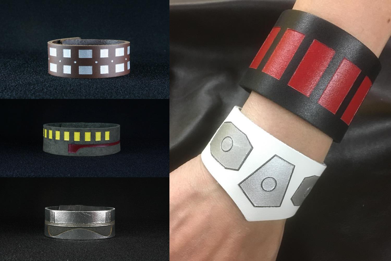 Star Wars Inspired Leather Cuff Bracelets