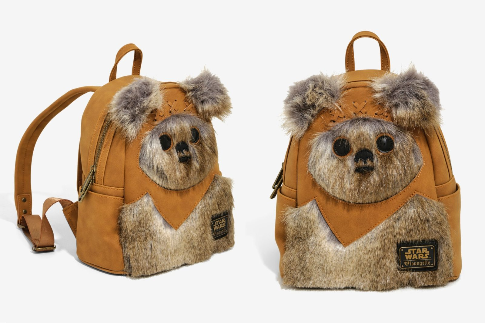 Loungefly Ewok Faux Fur Mini Backpack