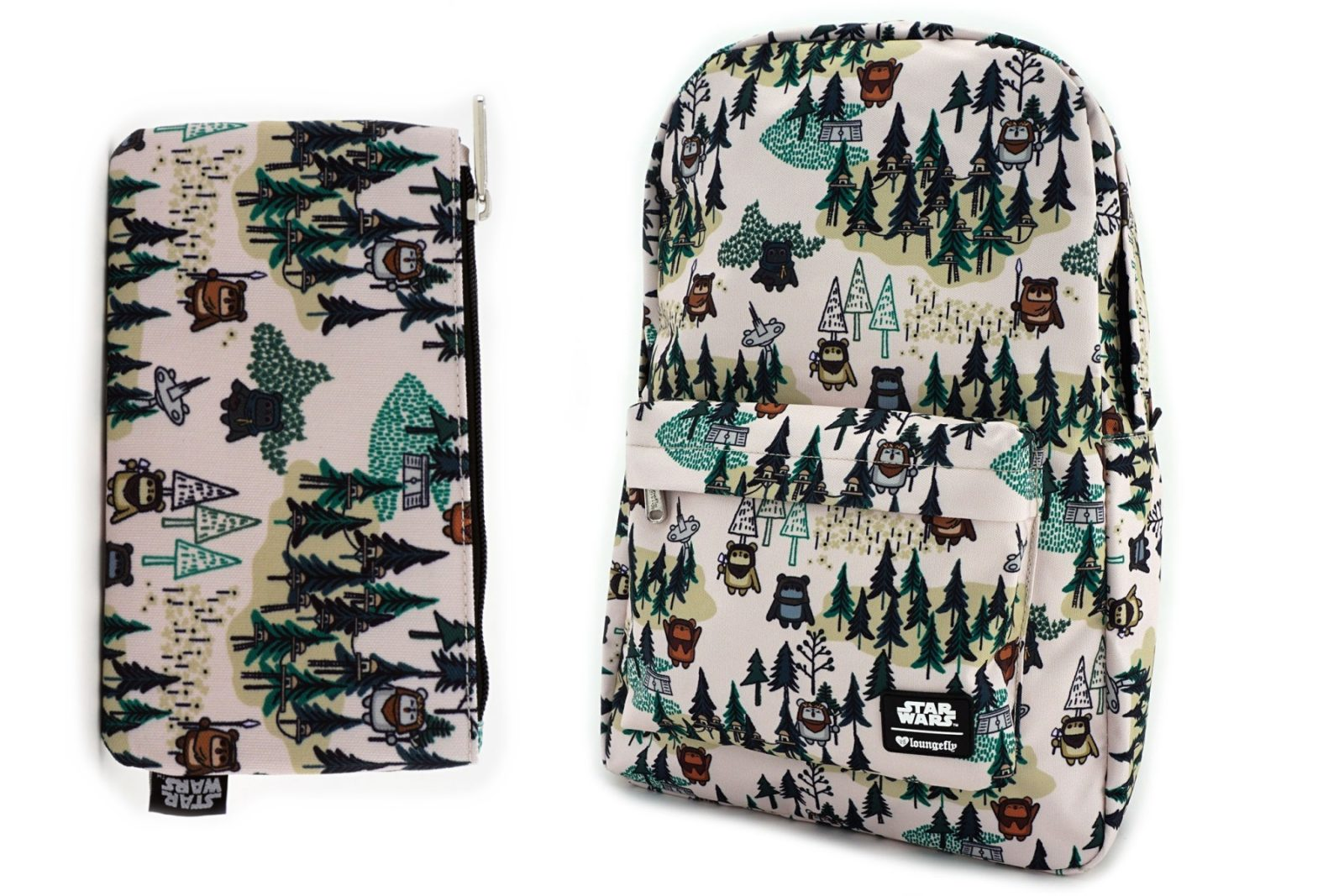 New Loungefly Ewok Forest Print Backpack