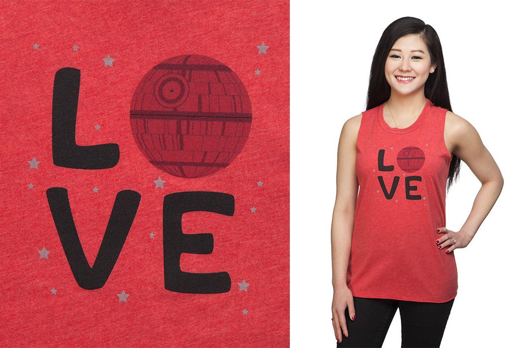 Death Star Love Tank Top at ThinkGeek
