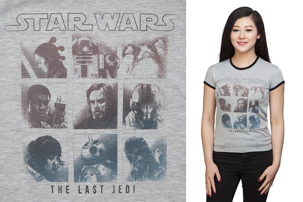 Women's The Last Jedi Ombre Print T-Shirt