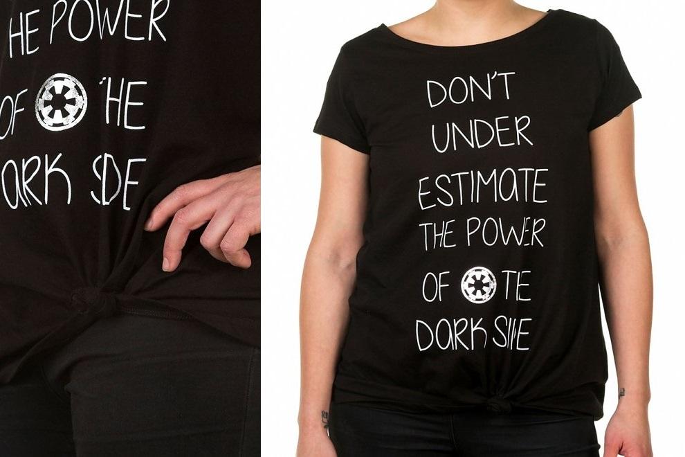 Women's Star Wars Dark Side Tie-Front T-Shirt