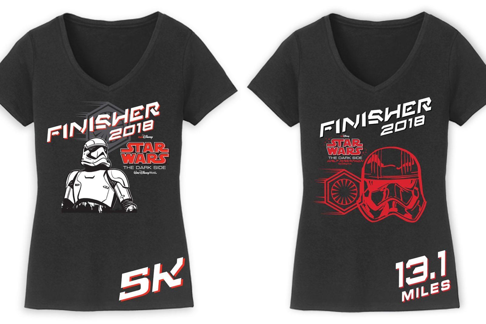 Run Disney Star Wars 2018 Finisher Apparel