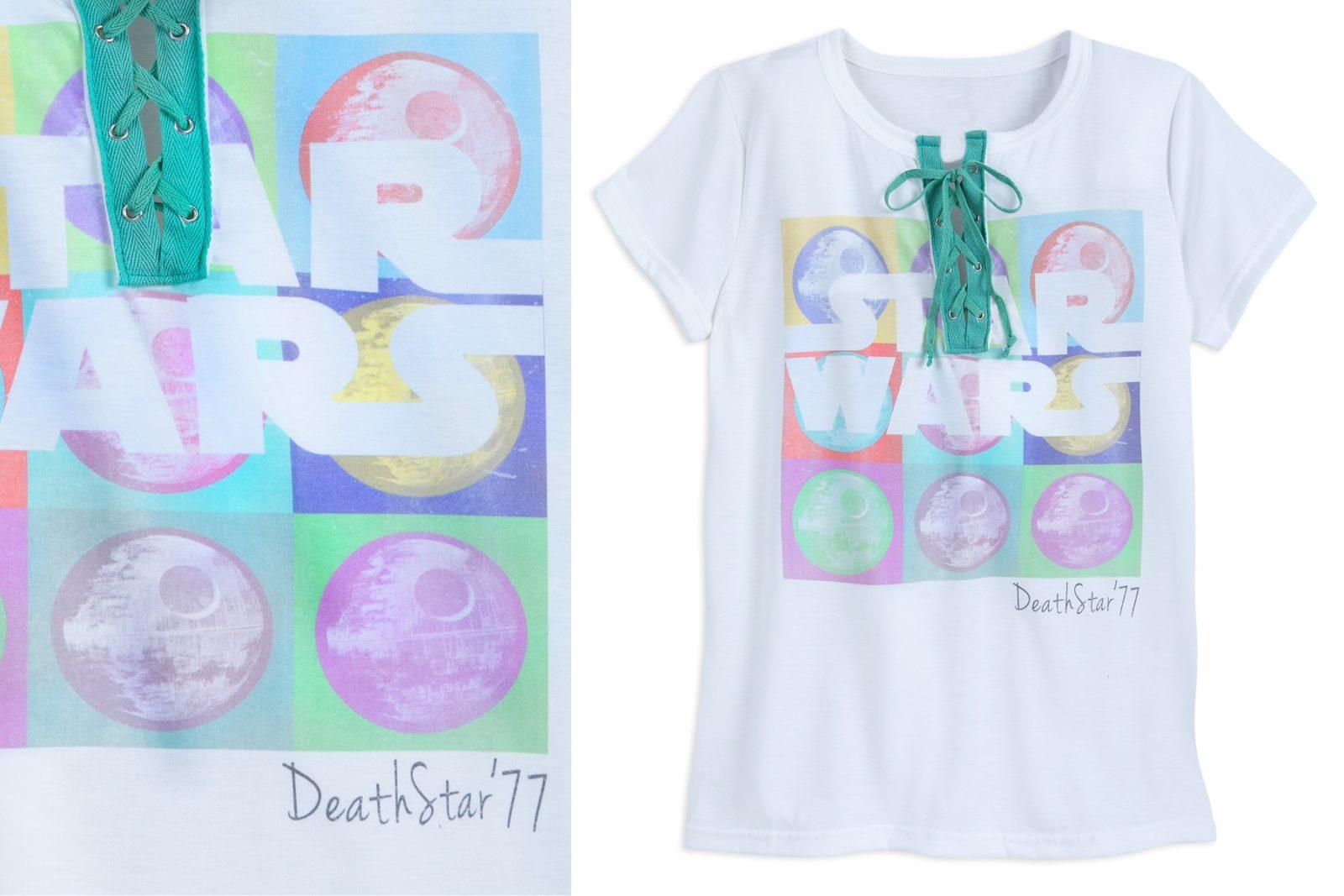 Women's Star Wars Death Star Laced Up T-Shirt at Shop Disney