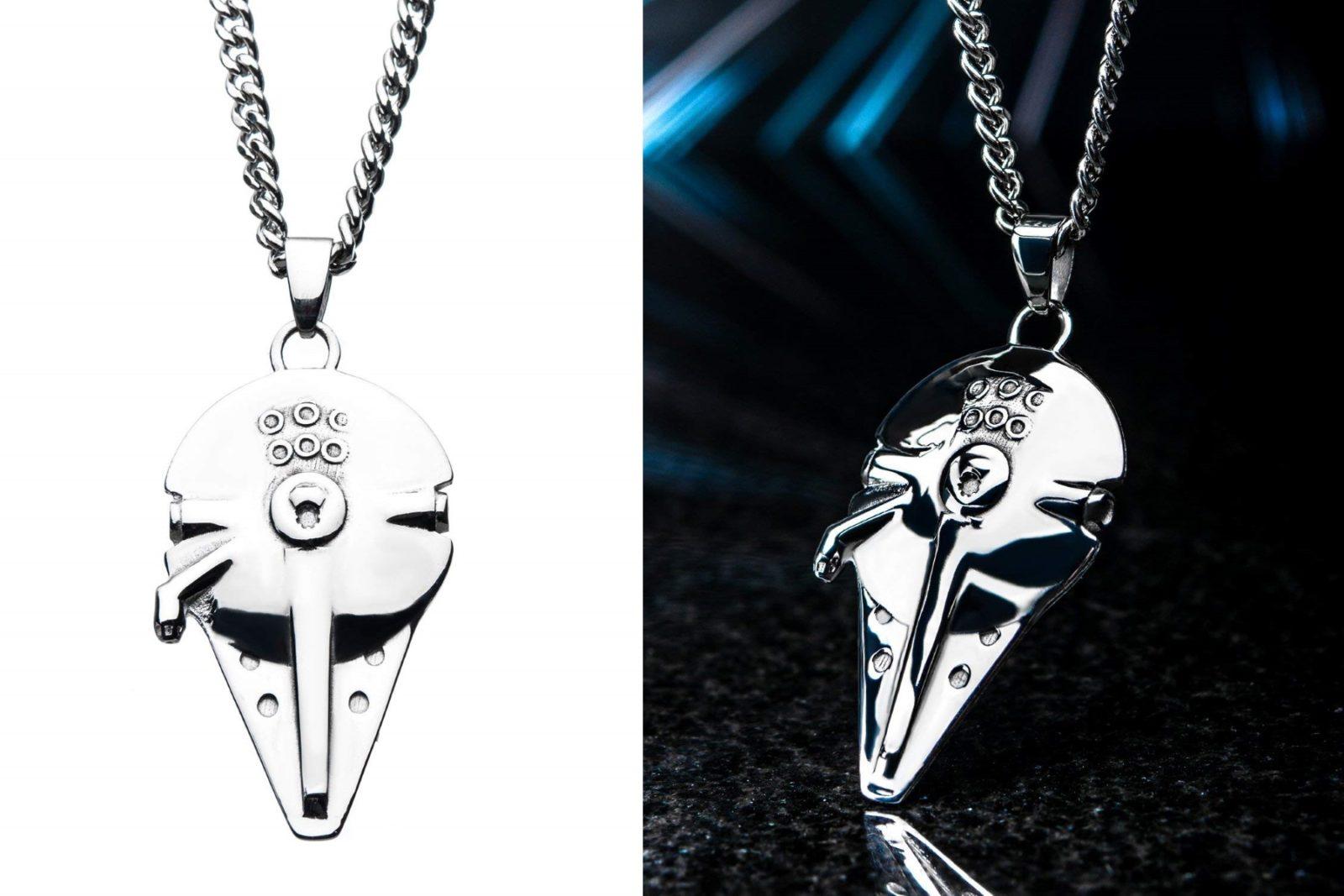 Body Vibe x Star Wars Solo Millennium Falcon Necklace on Amazon