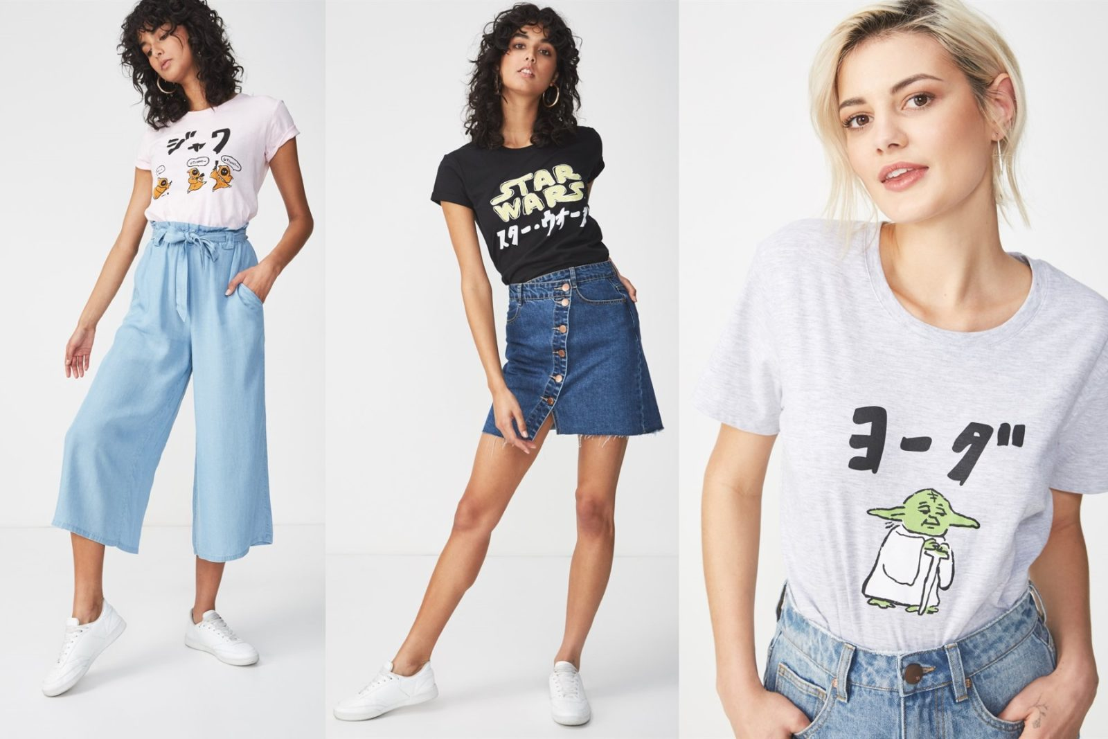 Women's Star Wars Japanese T-Shirt Collection at Cotton On AUS and NZ