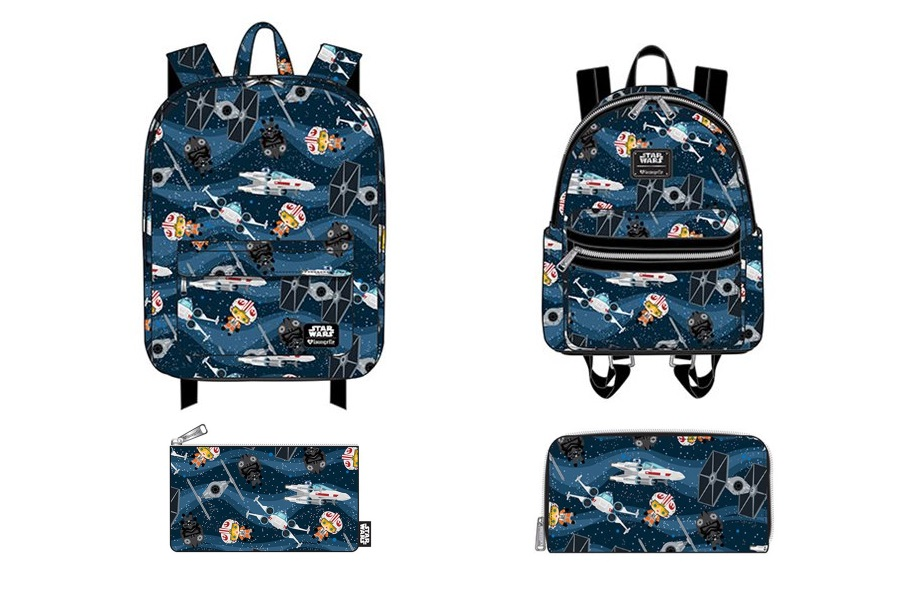 Loungefly x Star Wars Chibi Starships Bag Range