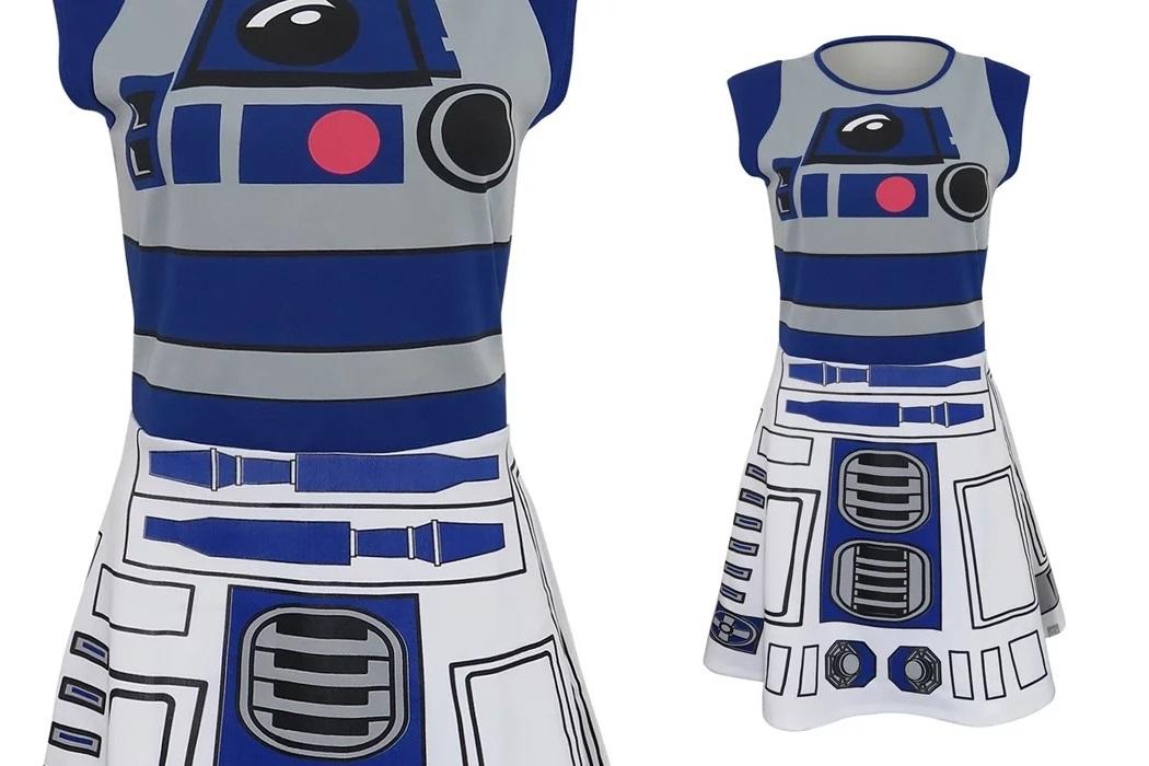 Women's Star Wars R2-D2 Cosplay Skater Dress
