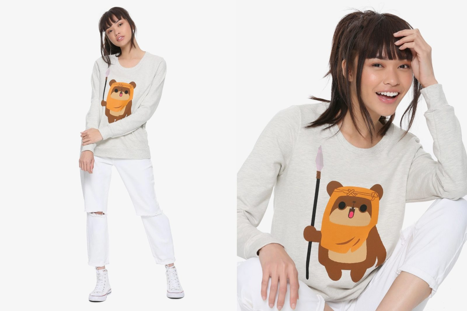 Women's Her Universe x Star Wars Chibi Ewok Sweatshirt at Hot Topic