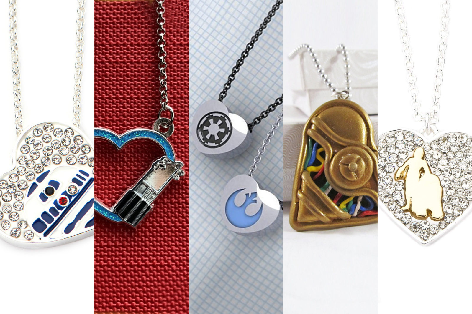 Leia's List – Star Wars Heart Shaped Necklaces