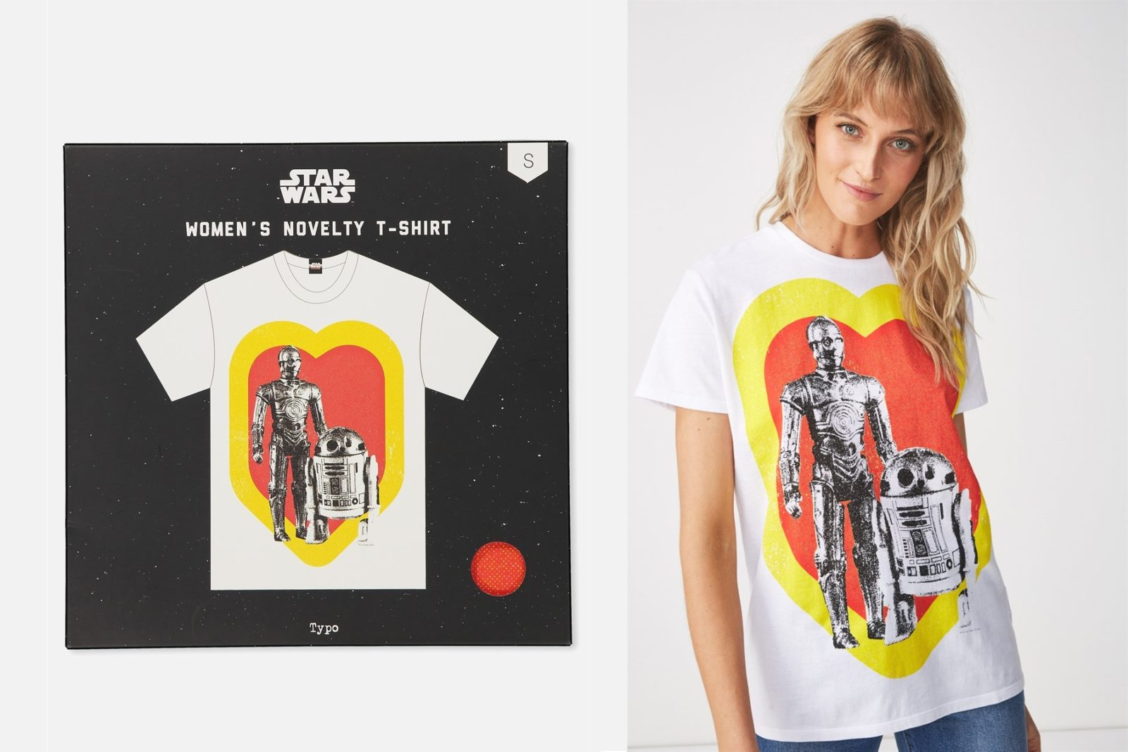 Women's C-3PO & R2-D2 Print T-Shirt at Typo