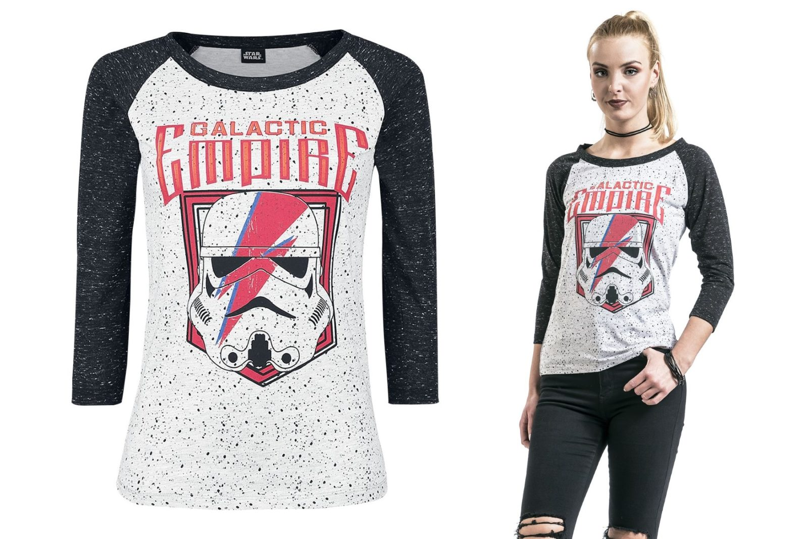 Women's Star Wars Galactic Empire Stormtrooper 3/4 Length Sleeve Tee at EMP Online