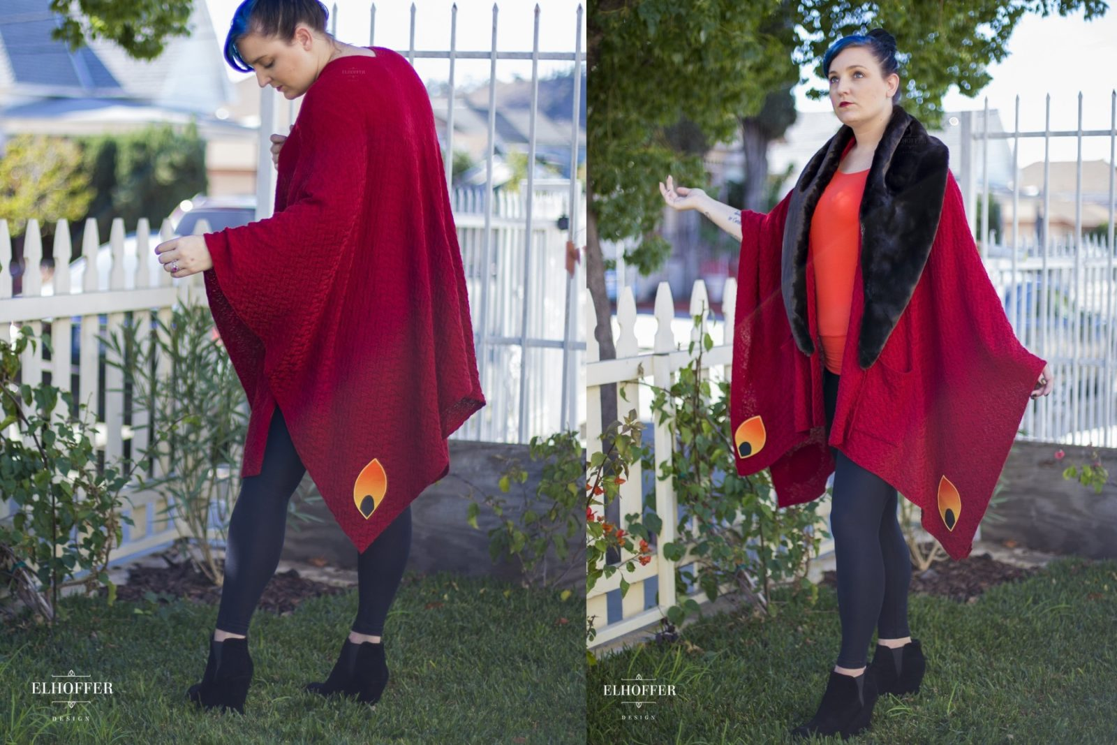 Gorgeous Elhoffer Design Galactic Queen Cape!